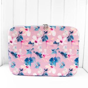 nachhaltige-Laptophülle-Hibiskus-rosa-recycelt