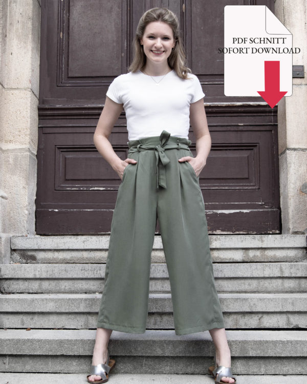 PDF-Download Schnittmuster-Nähset Nähkit-Stoff-Tencel-Lyocell-Meterware-Culotte-Olive-STOCKHOM-Oh-pretty-me-by-Manufaktur-Nicola-Marisa