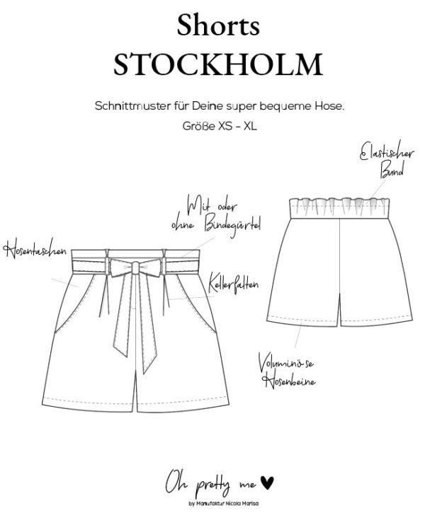 Technische Zeichnung Shorts STOCKHOLM