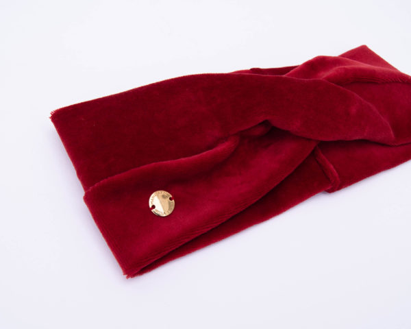 Nachhaltige-Baumwolle-Nicki-Stirnband-Rot-GOTS-Zertifiziert-Handmade-Manudaktur-Nicola-Marisa-Made-in-Germany