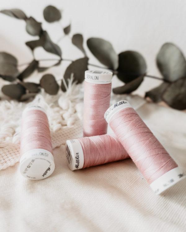 Nähgarn Amann Mettler No. 100 col. 0637 200 Meter rosa nachhaltige Mode nähen Manufaktur Nicola Marisa