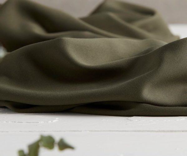 Tencel Meet Milk Khaki Meterware Olive Stoff Fabric