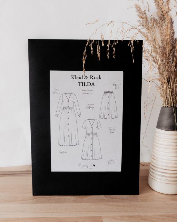 Schnittmuster und E-Book für langes und kurzes Kleid und Rock