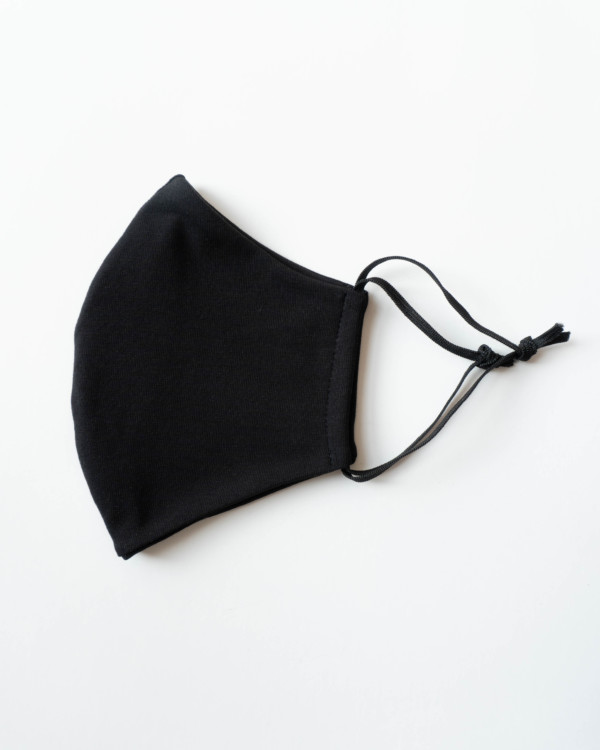 weiche Bio-Baumwollmaske für Männer Herren in schwarz