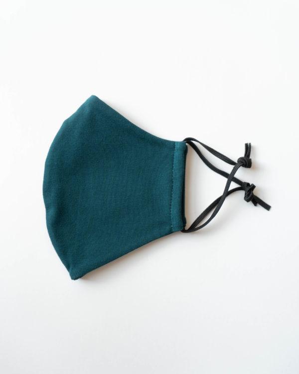 nachhaltige BioBaumwoll-Maske für Herren Männer in Grün Petrol