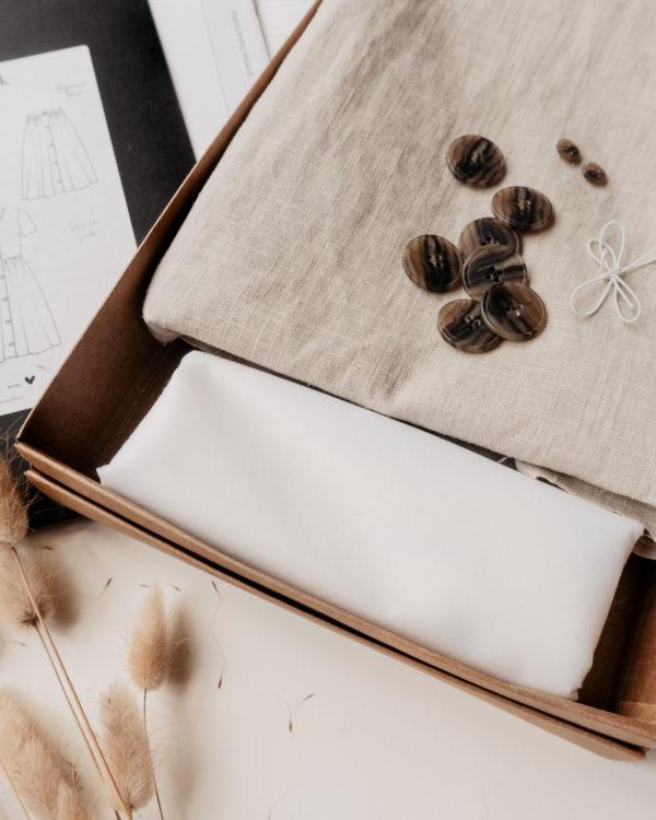 Nähbox, DIY-Nähset für BOHO-Kleid zum selbernähen mit E-Book und Schnittmuster